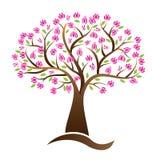 Image de logo de vecteur d'arbre de fleurs de cerisier illustration libre de droits