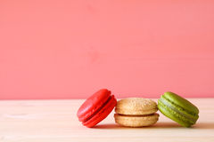 Image de macaron ou de macaron coloré Images stock