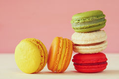 Image de macaron ou de macaron coloré Photo stock
