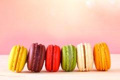 Image de macaron ou de macaron coloré Photos libres de droits