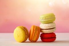 Image de macaron ou de macaron coloré Image stock