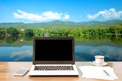 Image de maquette d'ordinateur portable photo libre de droits