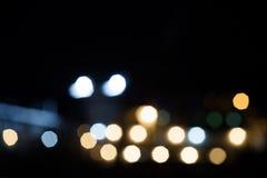 Image de mer de tache floue et de bokeh de chanel dans le temps de coucher du soleil avec le colo chaud Image libre de droits
