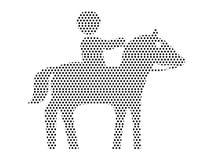 Image de modèle pointillé d'un cavalier de cheval illustration libre de droits
