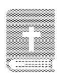 Image de modèle pointillé d'une Sainte Bible illustration de vecteur