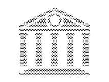 Image de modèle pointillé de Panthéon illustration stock