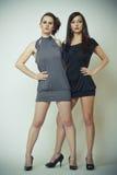 Image de mode de deux beaux jeunes femmes photo libre de droits