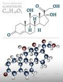 Image de molécule d'aldostérone illustration libre de droits