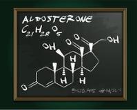 Image de molécule d'aldostérone Images stock