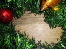 Image de Noël avec des sphères Photographie stock libre de droits