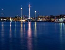 Image de nuit de Stockholm image libre de droits