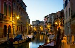 Image de nuit de Venise. photographie stock