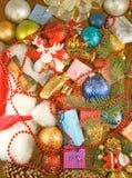 Image de plan rapproché de décorations de Noël images stock