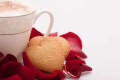 Image de plan rapproché de beau biscuit de forme de coeur Photos stock