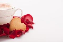 Image de plan rapproché de beau biscuit de forme de coeur Photos libres de droits