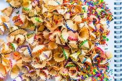 Image de plan rapproché de couleur de crayon affilée Photos libres de droits