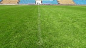 Image de plan rapproché de terrain de football naturel d'herbe verte banque de vidéos