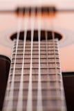 Image de plan rapproché de touche de guitare Image libre de droits