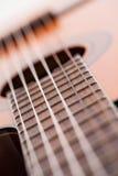 Image de plan rapproché de touche de guitare Photo libre de droits