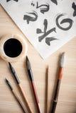 Image de plan rapproché des outils de calligraphie Photo stock