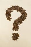 Image de point d'interrogation composée des grains de café Image libre de droits