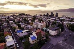 Image de RAerial de Reykjavik au printemps photos stock