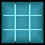 Image de rayon X de cube se réunissant à partir des blocs Images libres de droits