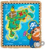Image 4 de sujet de carte de trésor Photo stock