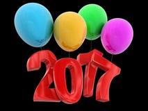 Image de 2017 sur des ballons illustration libre de droits