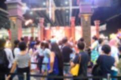 Image de tache floue des foules d'aéroport Images stock
