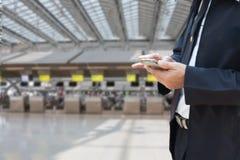Image de tache floue du fond de contre- contrôle d'aéroport Images stock