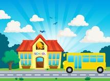Image 2 de thème d'école et d'autobus Images stock