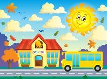 Image 3 de thème d'école et d'autobus Photographie stock libre de droits