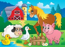 Image 5 de thème d'animaux de ferme Photos libres de droits