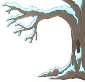 Image 1 de thème d'arbre d'hiver Image libre de droits