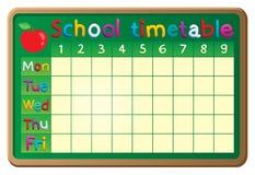 Image 2 de thème d'horaire d'école illustration stock