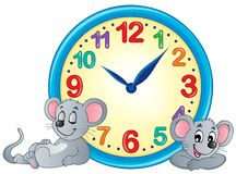 Image 4 de thème d'horloge Image libre de droits