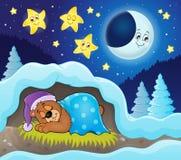 Image 3 de thème d'ours de sommeil illustration libre de droits