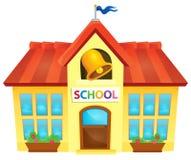 Image 1 de thème de bâtiment scolaire Image stock