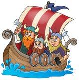 Image 1 de thème de bateau de Viking illustration libre de droits