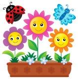 Image 1 de thème de boîte de fleur Image libre de droits