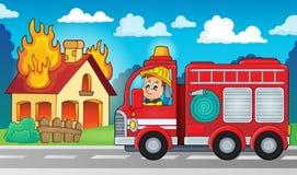 Image 5 de thème de camion de pompiers illustration stock