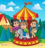 Image 2 de thème de carrousel Photos stock