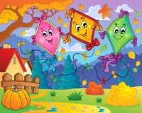 Image 9 de thème de cerfs-volants illustration stock