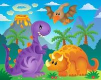 Image 6 de thème de dinosaure Images stock