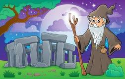 Image 3 de thème de druide illustration stock
