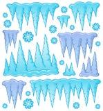 Image 1 de thème de glaçon illustration de vecteur