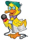 Image 1 de thème de journaliste de canard Photo stock