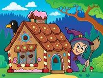 Image 3 de thème de maison de pain d'épice illustration stock