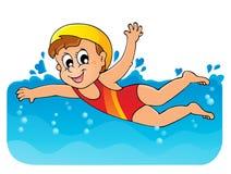 Image 1 de thème de natation Images stock
